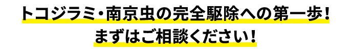 トコジラミ・南京虫の完全駆除への第一歩!